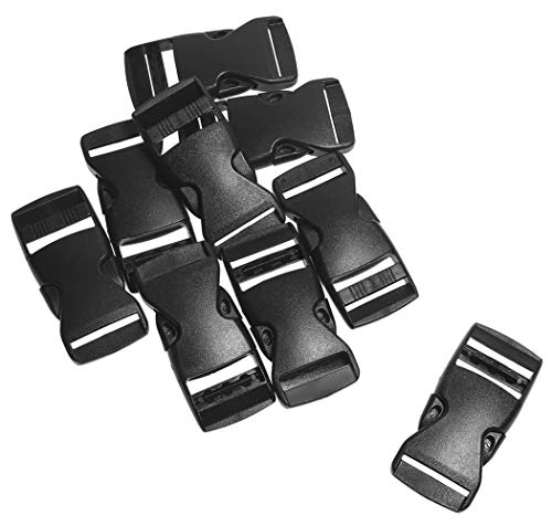 10pcs 1 Webbing Plastic Slider Tri-glide Adjust Tri-ring Black Curve Buckle For Bag Parts Dog Collar Harness Backpack Strap Making Things Convenient For The People Arts,crafts & Sewing