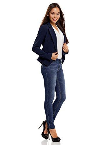 oodji Ultra Mujer Vaqueros Slim Fit Básicos Azul (7500W)