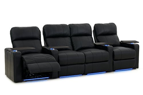 Cheap turbo xl700 home theater seats octane seating black bonded leather power recline Home theater furniture amazon