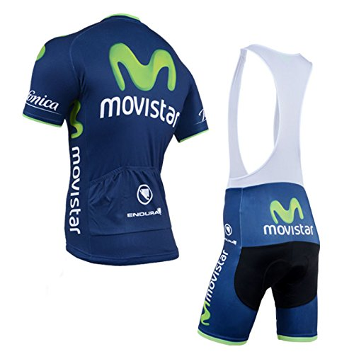 Galleon - 2014 Outdoor Sports Pro Team Men s Short Sleeve Movistar Cycling  Jersey And Bib Shorts Set 409c8d946