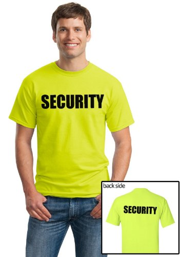 SECURITY | Event Safety Cotton Two Side Print Neon Unisex T-shirt
