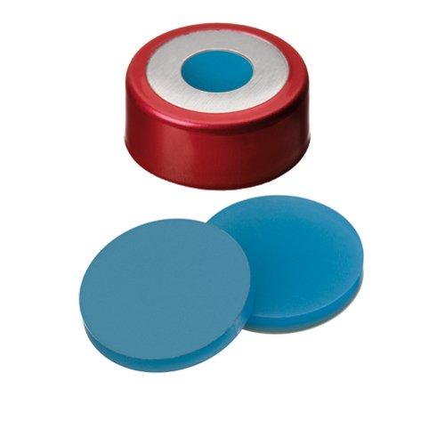 ND20 Magnetic ''Bimetal'' Crimp Cap (8mm hole) with Silicone/PTFE Septa, pk.100 (La-Pha-Pack # 20 03 1536)