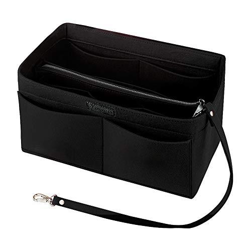 Purse Organizer Insert, Ropch Felt Handbag Organizer with zipper Bag Organizer, -