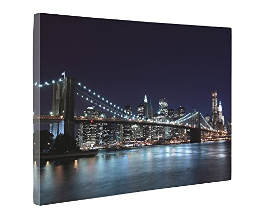 Nyc Art (Niwo Art (TM) - New York Cityscape Picture On Canvas - Giclee Wall Art for Home Decor, Gallery Wrapped, Stretched and Framed Ready to Hang (16