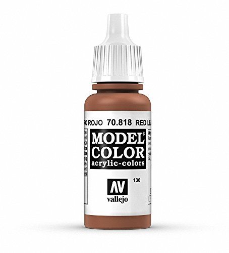Vallejo Red Leather Paint, 17ml