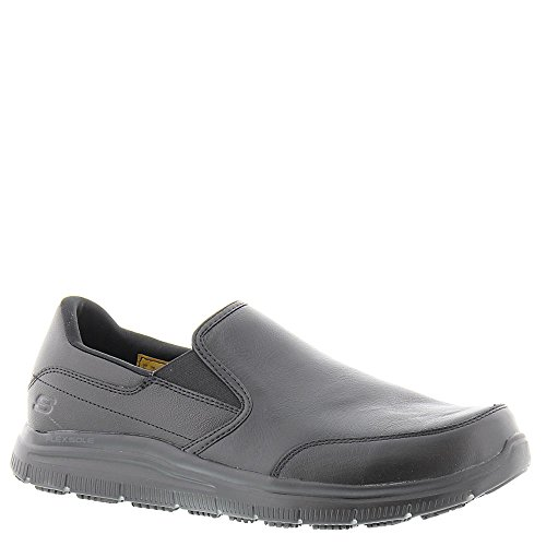 Skechers Herenwerk Relaxed Fit Flex Advantage Sr Bronwood Loafer Zwart Leer