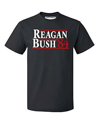 P&B Reagan Bush 84 (Blue Text) Men's T-Shirt, S, Black