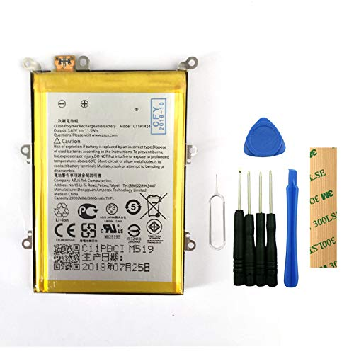 for ASUS ZenFone 2 Z00AD Z008D Replacement Battery C11P1424 Free Adhesive Tool