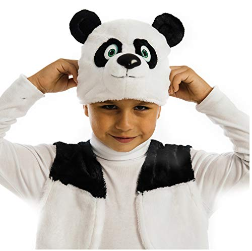 5 O'Reet Plush Panda Bear Costume - Complete Teddy Animal Outfit for Boys &