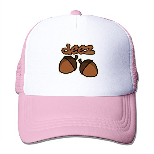 hugun-funny-deez-nuts-caps-pink-one-size