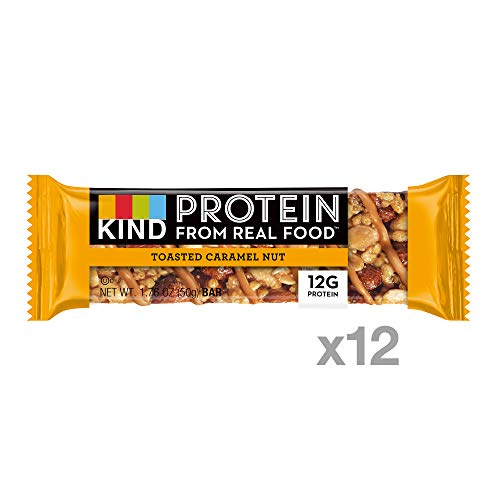KIND Protein Bars, Toasted Caramel Nut, Gluten Free, 12g Protein,1.76oz, 12 count by KIND (Image #1)