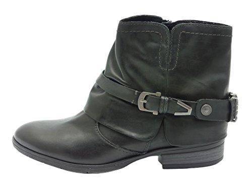 Marco Tozzi Damen Stiefeletten schwarz, (BLACK ANTIC) 2-2-25351- Größe 42