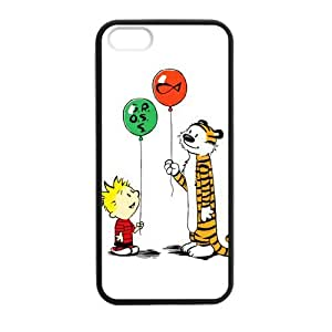 Calvin and Hobbes Playing Balloon Case TPU RUBBER cover for iPhone 5 5s protective Durable black case