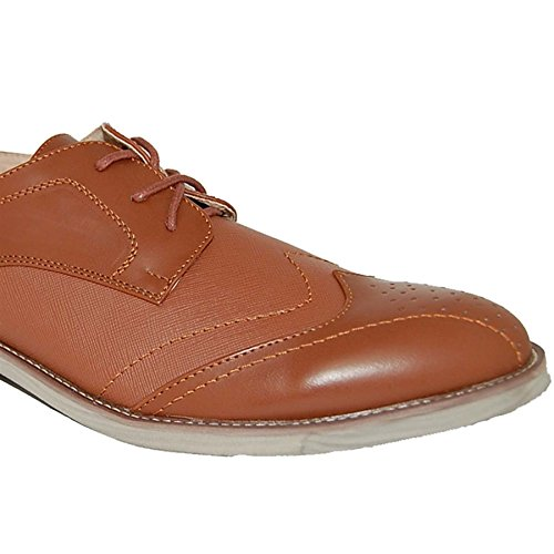 SHOE ARTISTS Billy Brown Leather Lined Upper Oxfords 5gNPWWZ