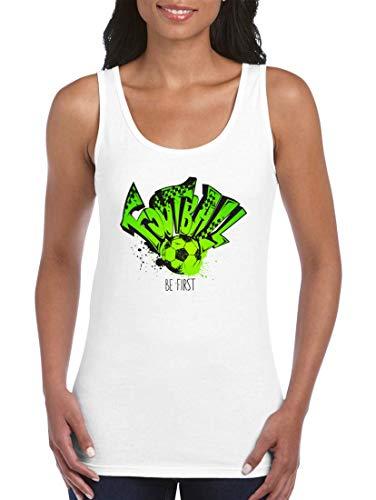 Druckerlebnis24 Camiseta de tirantes para mujer y mujer de fútbol