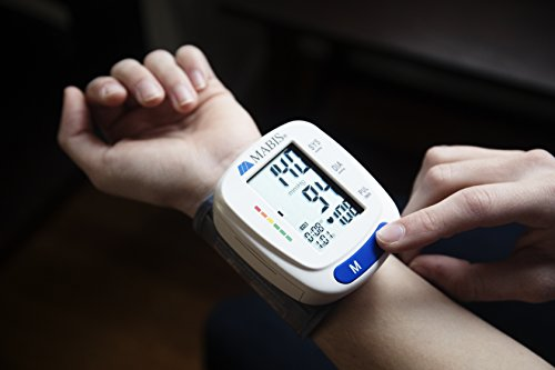 Blood Pressure Monitor Cuff MABIS Digital Portable Wireless Blood Gauge Pulse, Irregular Heartbeat, High Pressure