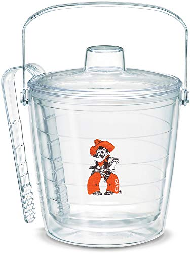 (Tervis 1046286 Oklahoma State Cowboys Pistol Pete Ice Bucket with Emblem and Clear Lid 87oz Ice Bucket, Clear )