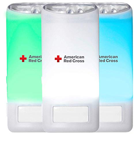 American Red Cross Blackout Buddy Connect Color Emergency LED Light & USB Charger, Connects with both Amazon Alexa and Google Home