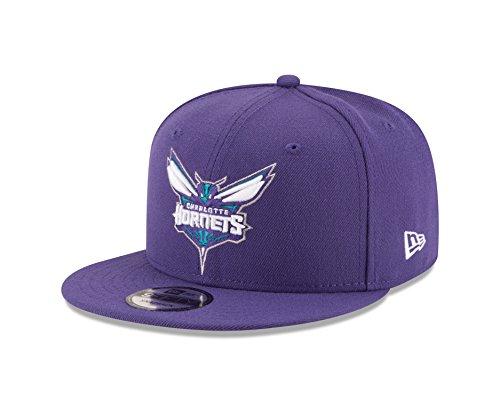 Charlotte Cap - New Era NBA Charlotte Hornets Adult Men NBA 9Fifty Team Color Basic Snapback Cap,OSFA,Purple