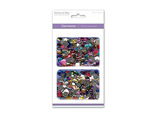 Forever In Time Gemstone Embellishments, Assorted Shapes, Colors and Sizes, - Supplies Craft