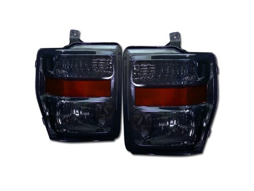 EURO SMOKE HEADLIGHTS LAMP SIGNAL AMBER DY 2008-2010 FORD F250 F350 F450 F550 (F350 Euro Headlights)