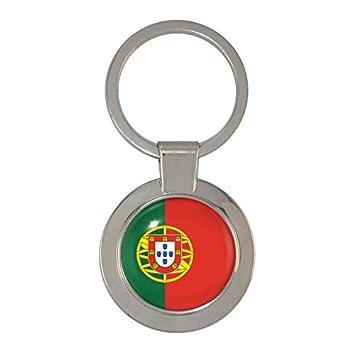 Amazon.com: Diseño de bandera de Portugal Chunky llavero ...