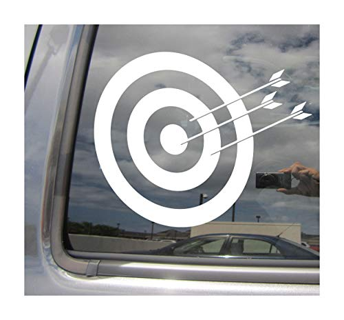 Right Now Decals Archery Target - Archer Bow Hunting - Cars Trucks Moped Helmet Hard Hat Auto Automotive Craft Laptop Vinyl Decal Store Window Wall Sticker 04051