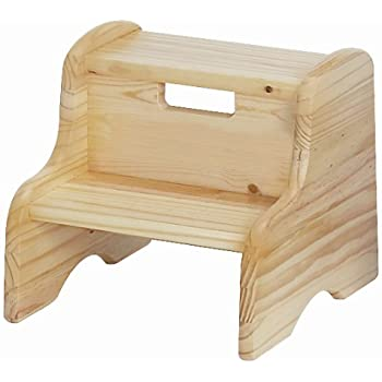 Amazon Com Little Colorado Unfinished Wooden Step Stool