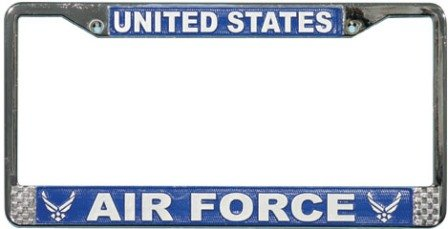 US Air Force License Plate Frame (Chrome Metal)