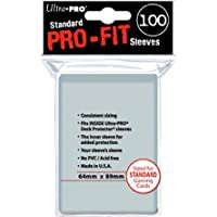Ultra Pro - 330491 - Jeu De Cartes - Housse De Protection - Pro-fit - Transparent - Standard - C100