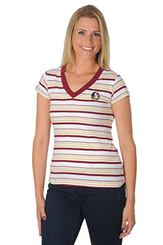 Florida Striped Shirt (NCAA Florida State Seminoles Women's Striped Tailgate T-Shirt, Large, Garnet/Gold)