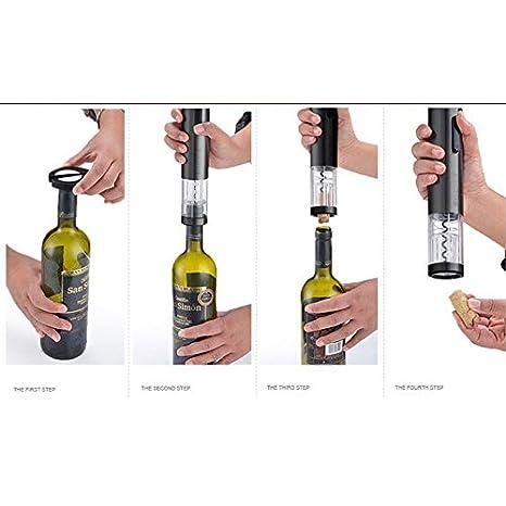 Godmorn cavatappi elettrico ricaricabile vino apribottiglie cavatappi set con caricabatterie tagliacapsule batteria Ni-MH ambientale