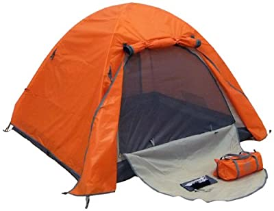 Genji Sports Aluminum Frames Light Weight Camping Tent, Orange