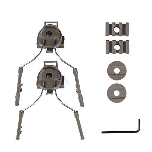 - Fast Tactical Helmet Left & Right Side Rail Suspension Bracket Earphone Helmet Rail Headsets Support