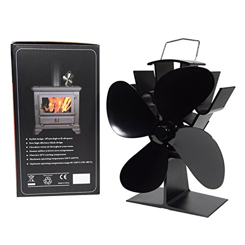 Wood Stove Heat Powered Fan - No Need for Big Noisy Blower Just Relax in Whisper Quiet - Fireplace Blower Fan for Efficient Heat Distribution