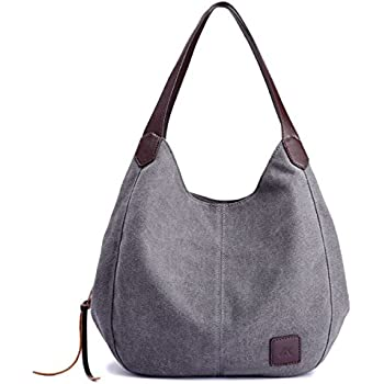 75ec2ceea473 90 Eagle Hobo Canvas Handbag Vintage Women Tote Shoulder Bags Multi  Compartment (Gray)