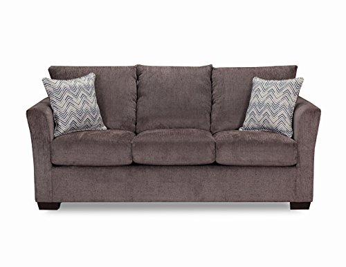 Simmons Upholstery 4206-04Q Elan Coffee Sleeper Sofa, Spa