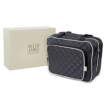 5145ac97ef39 free shipping Ellis James Designs Large Travel Toiletry Bag for Women with  Hanging Hook