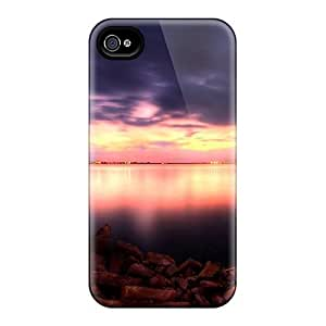 Tpu Shockproof/dirt-proof Beautiful Dusk On The Bay Cover Case For Iphone(4/4s)