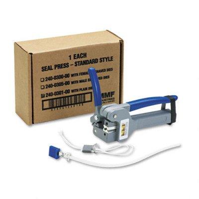 MMF Industries Plain Die Seal Press for Enviro Bag Seals and EZ Crimp Plastic Seals, Gray (240030100)