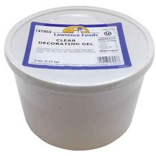 Lawrence Foods Clear Decorating Gel, 5 Pound -- 6 per case.