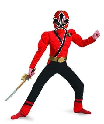 Red Ranger Samurai Classic Muscle Costume - Medium (7-8)