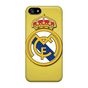 Scratch Resistant Hard Phone Cover For Apple Iphone 5/5s With Unique Design Trendy Real Madrid Cf Image JacquieWasylnuk