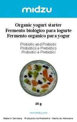 Para el arranque de yogur BIO - probiotisch y prebiótico - 25 G ...