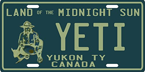 Bigfoot YETI Sasquatch metal Yukon Territory 1950's Canadian License Plate
