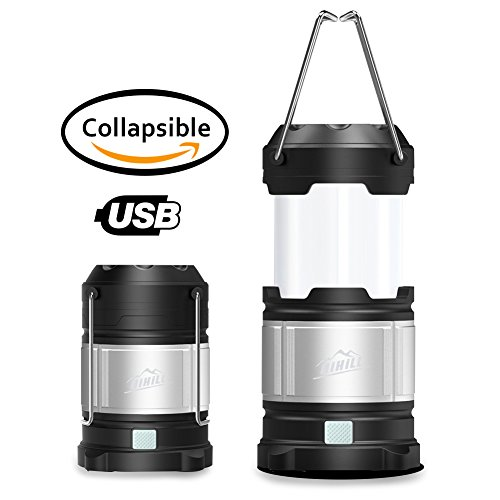 HiHiLL Camping Lantern, Portable Flashlight, Emergency Light for Vehicles, Hurricane, Home Power Outage, Excellent Backup Battery
