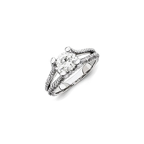 Top 10 Jewelry Gift 14ky White Gold Diamond/Moissanite Engagement Ring by Jewelry Brothers Rings