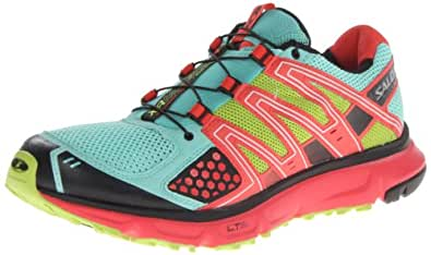 Salomon Women's XR Mission W Trail Running Shoe,Celadon/Papaya/Pop Green,12 M US