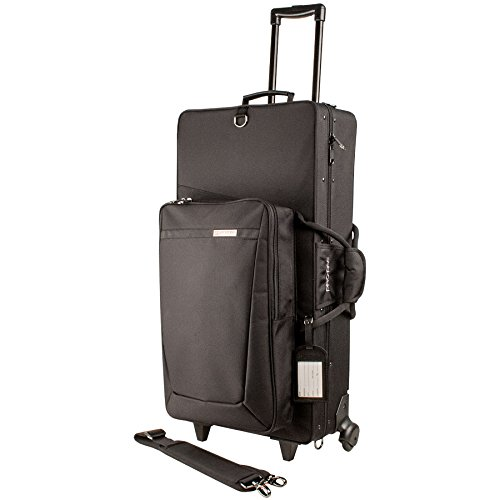 Protec PB304SOPWL Combination PRO PAC Case with Wheels for Alto / Soprano - Large Straight Wheels
