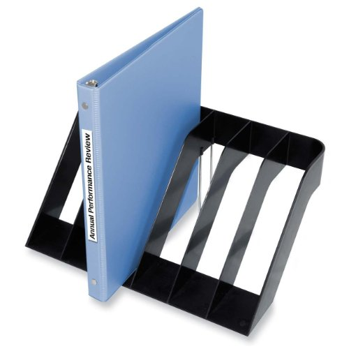 Kantek 6-Section Wide Sorter, 13-Inch Wide x 8.5-Inch Deep x 6-Inch High, Black (S1510) (3 Binder Holder Ring Wall)